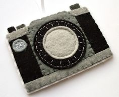 felt camera ornament $25 #photography