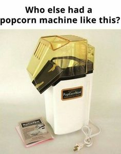 Remember making bags of popcorn with this guy while melting the butter in the tray on top : nostalgia E 7, Childhood Days, Oldies But Goodies, Ol Days, Sweet Memories, Cherished Memories, Do You Remember, The Good Old Days, Vintage Toys