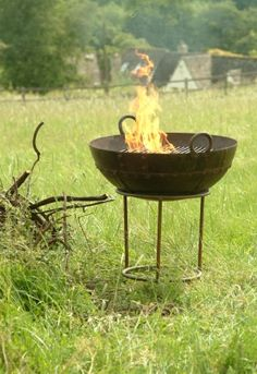 Wrought Cast Iron Grill Fire Pit