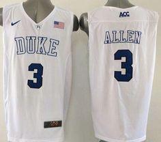 75b694abdcc9 Blue Devils  3 Grayson Allen White Basketball Elite Stitched NCAA Jersey
