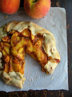 sweetsugarbean: Smell This: Peach Tart With Dulce de Leche