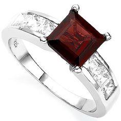 My birthstone. Still simple and modern. Mine Too! Garnet Jewelry, Garnet Rings, Jewelry Box, Jewelery, Jewelry Accessories, Magenta, Love Ring, Vintage Rings, Birthstones