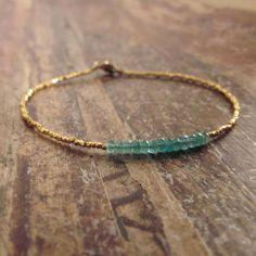 Bracelet émeraude émeraudes Bracelets peuvent par TwoFeathersNY