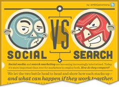 Social vs Search Infographic | MDG Advertising