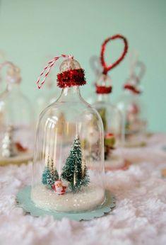 diy weihnachten dekoration einweckglas Diy Weihnachten, Christmas Pictures, Halloween, Handmade Christmas, Glass Jars, Snow Globes, Stampin Up, Christmas Decorations, Xmas