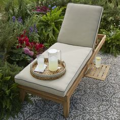 Chaise Cushions, Patio Lounge Chairs, Sunbrella Fabric, Teak, Charcoal, Home And Garden, Contemporary, Furniture, Color