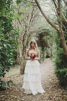 Such a fun, flirty dress with its sparkly sequins and embroidered layers- Fleur Wood; BHLDN