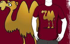 Camel T-Shirt design. #Redbubble #Cardvibes #Tekenaartje