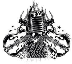 Tattoo Old School Girl Rockabilly Ink 48 Ideas Rockabilly Tattoo Designs, Rockabilly Art, Rockabilly Fashion, Tattoo Old School, Music Tattoo Designs, Music Tattoos, Leg Tattoos, Tatuagem Hot Rod, Rock N Roll Tattoo