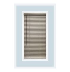 Aluminum Window Blind; Color - Brushed Aluminum; Manufactured by Delta Blinds Supply in USA