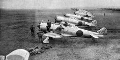 Ki-44 Tojo's of 47th Sentai at Narimatsu airfield, Japan BFD