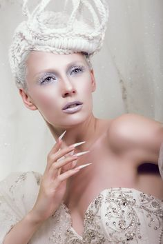 Ice Queen , Hair and Beauty Cover Shoot for ProfNail Magazine Germany-Netherlands