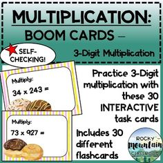 This digital product includes:Instructions for teachers on to set up a Boom account & assign decks to students30 self-checking cards which will be added to your library on www.boomlearning.com when the link is appliedWHAT ARE BOOM CARDS?Boom cards are digital task cards that you play on the Boom... Multiplication Practice, Data Tracking, Task Cards, Decks, Play, Digital, Link, Front Porches, Deck
