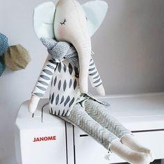 Nice to meet you Mr Elephant #inmyshop #elephantdoll #elephantagoodstart #dollmaker #agoodstart