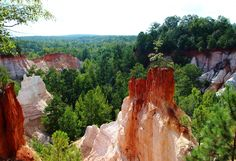 """The 11 Best Road Trips From Atlanta. Providence Canyon State Park. """"Little Grand Canyon"""". In Lumpkin, GA"""