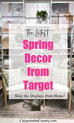 Latest spring home decor from Target Farmhouse Style Bedrooms, Farmhouse Style Kitchen, Farmhouse Style Decorating, Porch Decorating, Spring Home Decor, Spring Crafts, Al Fresco Dining, At Home Store, Target