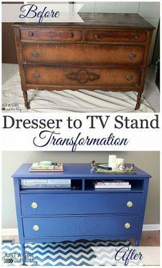 Dresser to TV Stand Transformation :: Hometalk