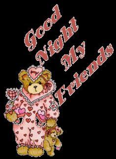 Good night glitter gifs