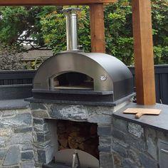 Fontana Forni Forno Toscano Marinara 39-Inch Countertop Wood-Fired Pizza Oven - Black : BBQ Guys