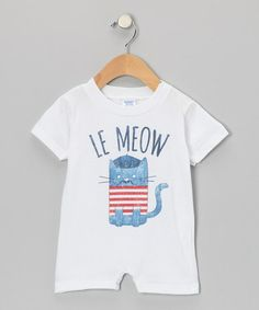 Take a look at this White 'Le Meow' Bodysuit - Infant by American Classics on #zulily today!