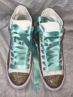 promo code e8fe5 70e20 Bling Converse crystallized with top of the line rhinestones. Bridal  Sneakers, Bling Shoes Custom