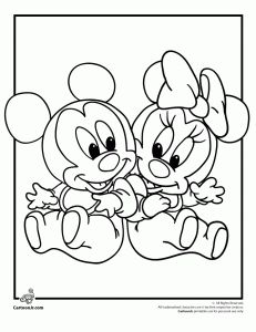 Disney Babies Coloring Pages Make your world more colorful with free printable coloring pages from italks. Our free coloring pages for adults and kids. Minnie Mouse Coloring Pages, Baby Coloring Pages, Cartoon Coloring Pages, Printable Coloring Pages, Coloring Pages For Kids, Coloring Books, Coloring Sheets, Kids Coloring, Miki Y Mini