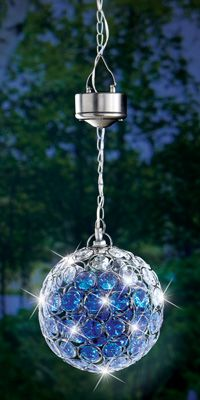 Crystal Hanging Solar Lights Purple Hanging Solar Patio Lights