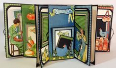 annes papercreations: Graphic 45 Home Sweet Home 5 x 5 Mini Album by Anne Rostad