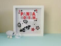 Panda nursery wall art panda picture panda gift for new Nursery Wall Art, Nursery Decor, Panda Nursery, Panda Gifts, Felt Gifts, Nursery Accessories, Picture Gifts, Handmade Felt, New Baby Products