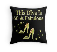 Throw Pillow This 60 year old will sparkle and shine in our sizzling 60th birthday T Shirts and Gifts. http://www.redbubble.com/people/jlporiginals/collections/371713-60th-birthday #60yearsold #Happy60thbirthday #60thbirthdaygift #60thbirthdayidea #happy60th