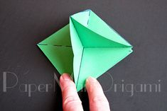 Origami Christmas Tree Tutorial | Origami Christmas Tree, Christmas Ornaments, Projects To Try, Fun, Crafts, Snowflakes, Trees, Winter, Model