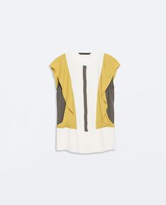 COLOR BLOCK TOP WITH FRILL