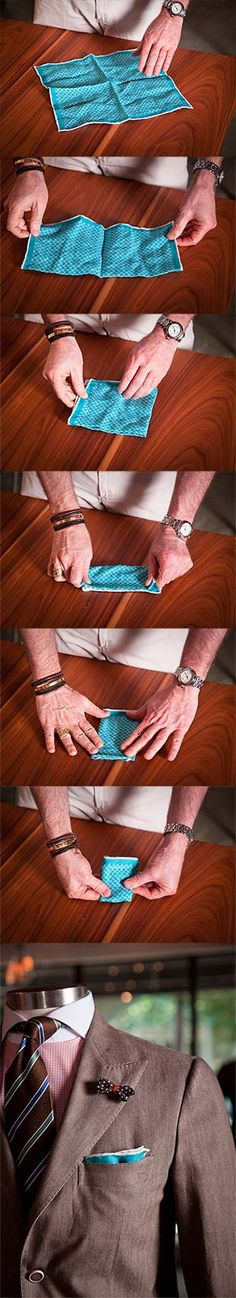 How to Fold a Pocket Square - Real Southern Men Wear Pocket Squares - Bourbon & Boots