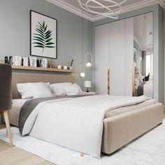 Modern Luxury Bedroom, Modern Minimalist Bedroom, Master Bedroom Interior, Room Ideas Bedroom, Small Room Bedroom, Luxurious Bedrooms, Bedroom Decor, Home Room Design, Living Room Designs