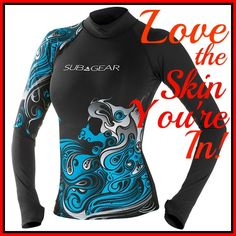 If you'e looking for a little extra protection from the sun and any stingers that might be in the water, check out Leisure Pro's great selection of skins! http://aquaviews.net/scuba-gear/love-skin/