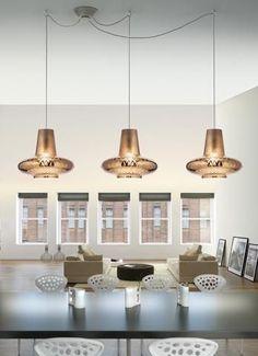 Zafferano Bespoke Glass Lighting Romeo & Giulietta 3-Light Pendant Light