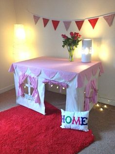 Table Play Tent - maybe figure out how to make it a boys cave for Zack