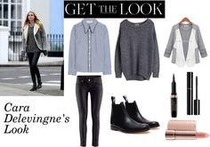 """Get the Look: Cara Delevingne's Downtown London Look. 3"" by chicvintagegurl ❤ liked on Polyvore"