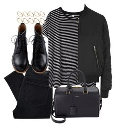 """""""Untitled #2379"""" by oliviaswardrobe ❤ liked on Polyvore featuring moda, Paige Denim, R13, ASOS, Topshop y Yves Saint Laurent"""