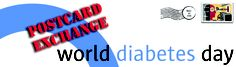 Connect with other PWD (people with diabetes) with the World Diabetes Day postcard exchange!