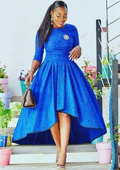 Blue African Print Dress/High Low Dress/African Clothing/African Dress For Women/African Fabric Dres African Party Dresses, African Dresses For Women, African Print Dresses, African Attire, African Fashion Dresses, African Wear, African Dress Styles, Fashion Outfits, African Clothes