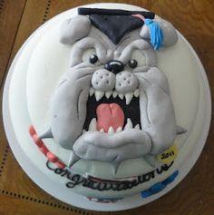 c/o 2012 Fresno State Bulldogs Graduate! (: (such a cute cake!)
