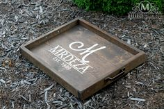 Personalized Serving Tray, Galvanized Serving Tray ...