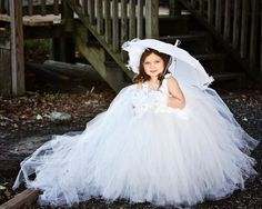Bella of the Ball Girls Tutu Dress with Train