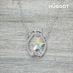 We present you Hûggot Bottle Rhodium-Plated Pendant with Zircons Created with Swarovski®Crystals (45 cm) the new collection of jewellery Hûggot! A broad range o