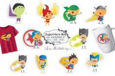 Super hero graphics and illustrations svg / superhero clip art SVG /superhero vector/ drawn doodle / Eps / Png / printable clip art from DesignBundles.net