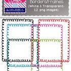 These Christmas colored Curly Borders/Frames will add a fun touch to your holiday products! {White and Transparent Borders Included- 12 images}  Al...