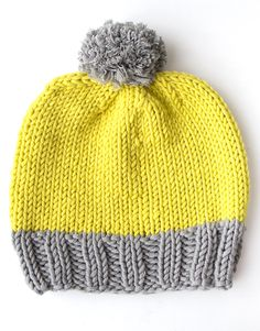 Knit yourself a beautiful bobble hat this winter - choose your colour combos and even the size of that cheeky pom pom. #mollietakeover