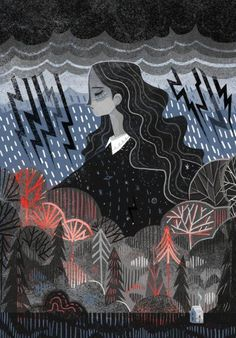'I love a summer storm' illustration by Karl James Mountford' Art And Illustration, Illustrations And Posters, Kunst Inspo, Art Inspo, Art Plastique, Art Reference, Illustrators, Artwork, Concept Art