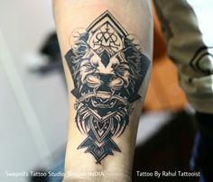 Geometrical lion tattoo   Tattoo by Rahul Tattooist